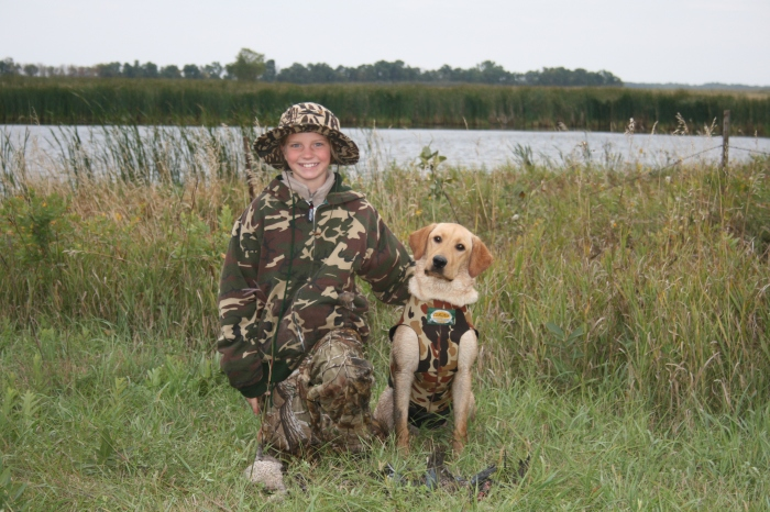 Shay and Mika on their first day waterfowl hunting (2011 Youth opener)