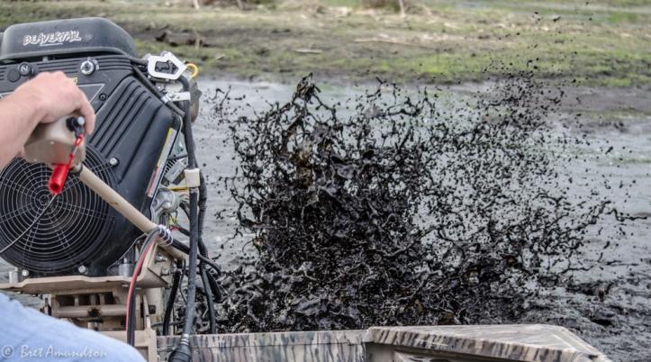 We found a little mud.