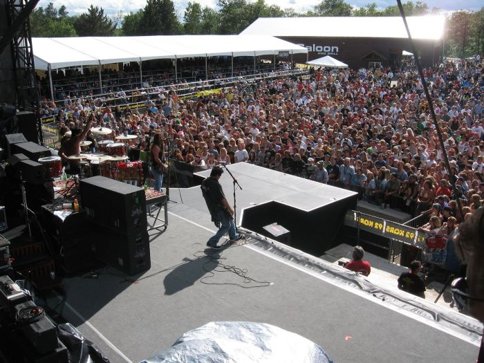 View from the Moondance stage