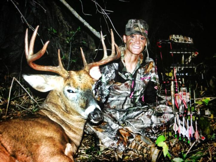 Nicole Larson with her big Minnesota buck!