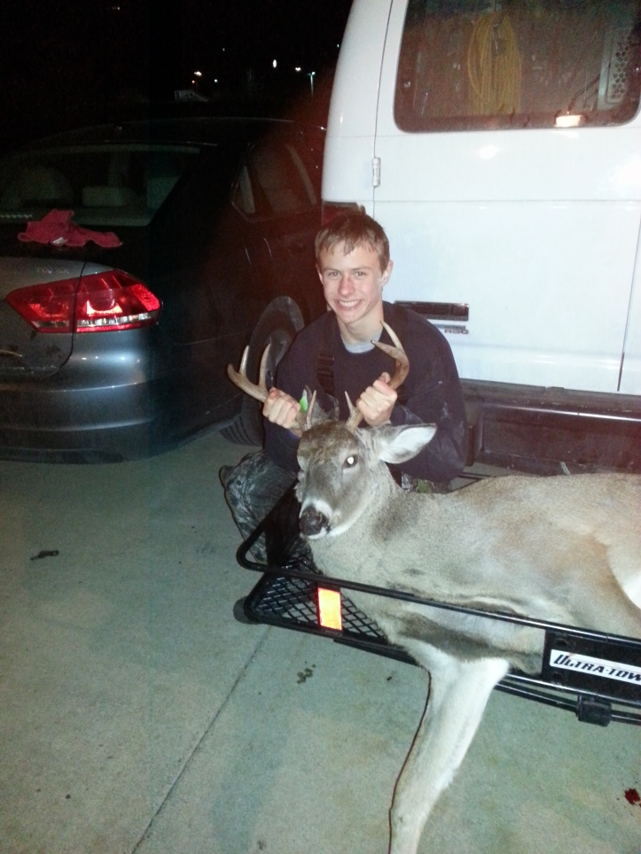 "Conner Hines, 8 points, 16.5"" spread and 180lbs."