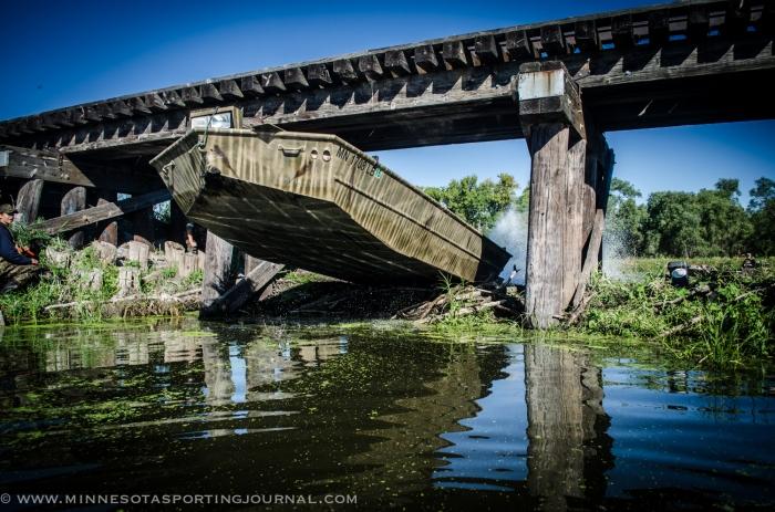 Chuck Ellingson makes his way across the Beaver Dam