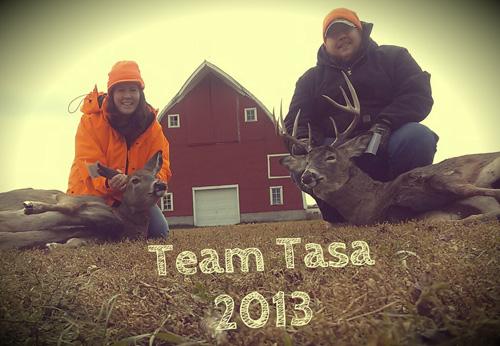 Team Tasa gettin' er done!  Sarah Tasa and Mike Tasa.