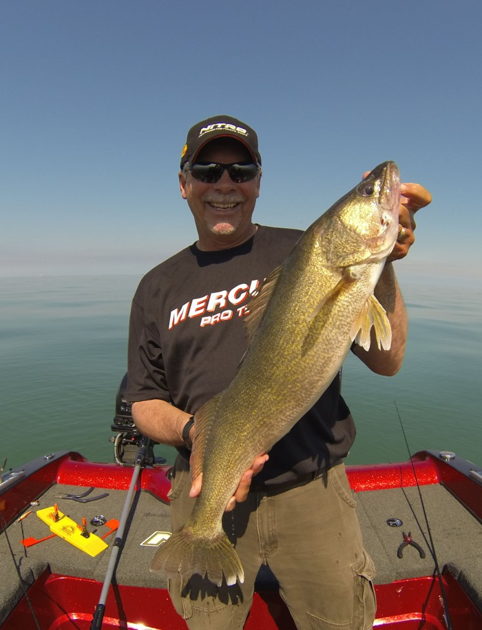 Gary Parsons holds a nice walleye