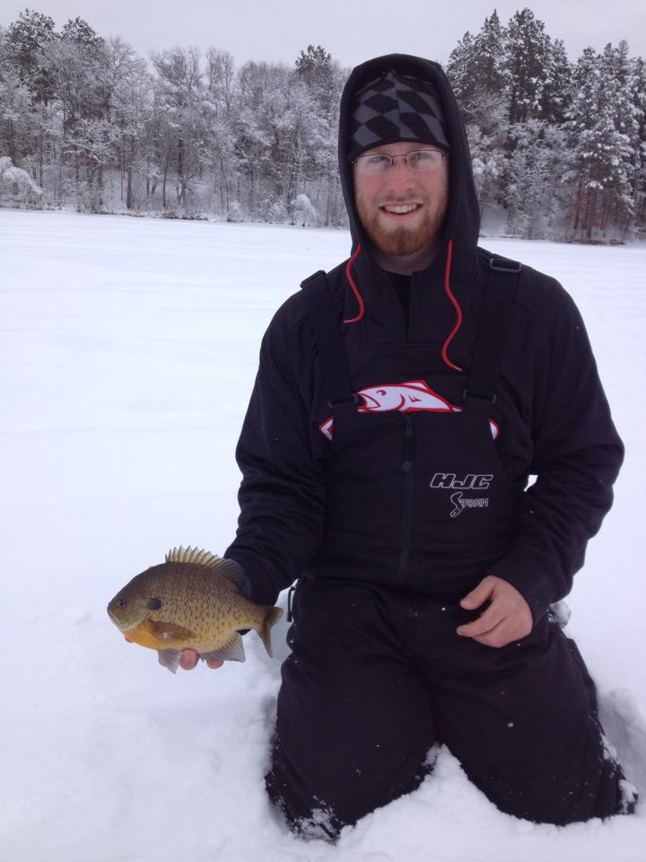 "Dale Luginbill with an 11"" bluegill"