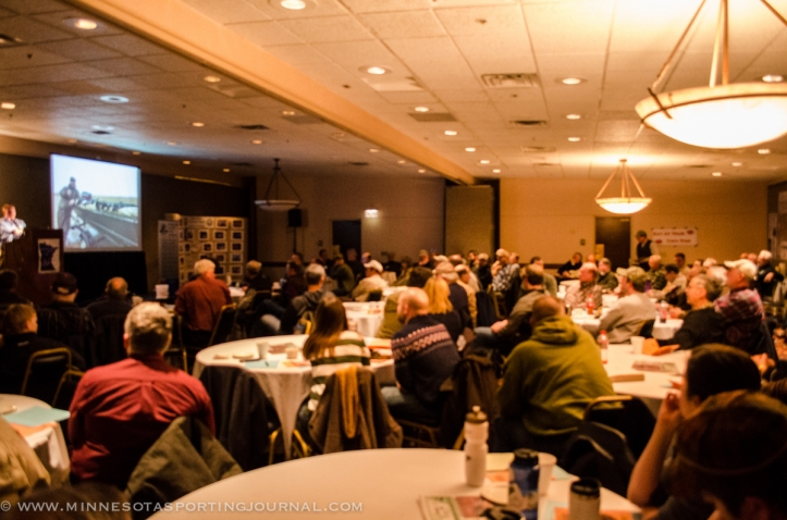 Attendees at the MN Waterfowl Symposium listen to Dr Josh Stafford