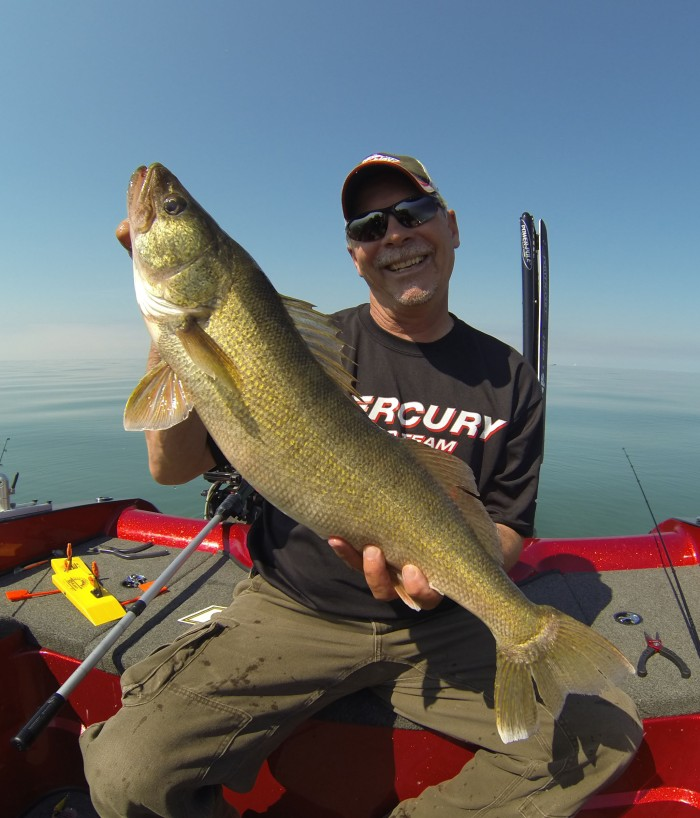 Gary Parsons with a walleye
