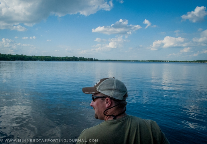 Darrell Schrieber cruises the lake