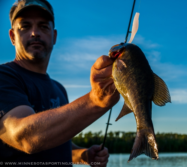 Jim Riley with a smallmouth bass