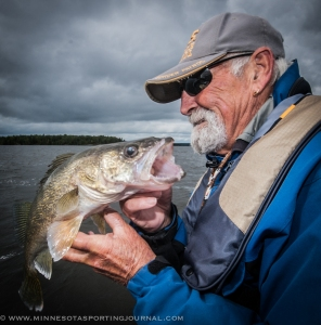 Ron Buth thanks another Eagle Lake walleye for taking his bait.