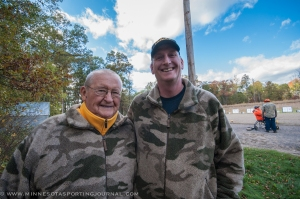 Korean War vet Ben Gorski and his son Dana.