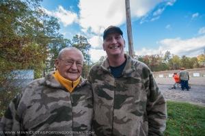Korean War vet Ben Gorski and his son Dana.