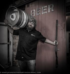 Jason Markkula uses old shotguns as door handles