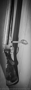 Doubled-barreled door handles.