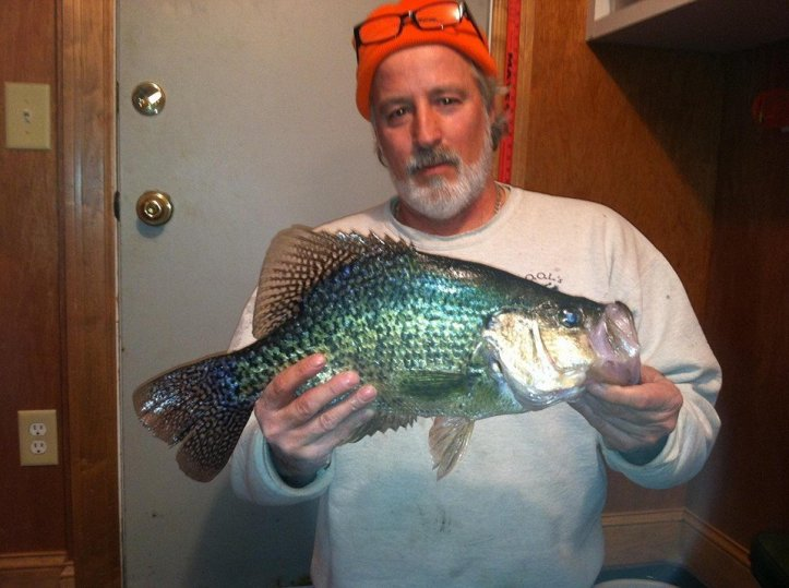 "Mark Koehnen and his 19"" crappie"