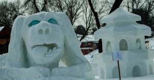 Ely Winterfest Snow Carving