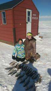 Kids with nice March catch, Arnesen's