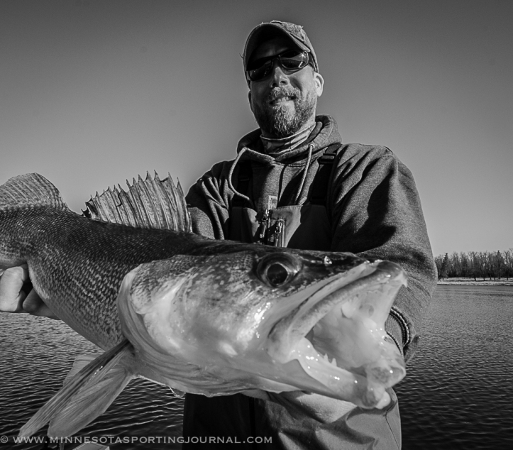 The author, Bret Amundson with a Rainy River walleye