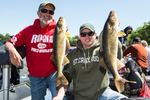 Al Lindner and Ty Sjodin won the walleye division
