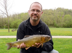 Chad Wentzel with a state record redhorse