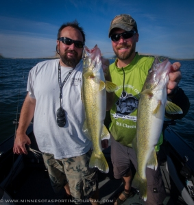 Bill Saunders and Bret Amundson with a Columbia River double.
