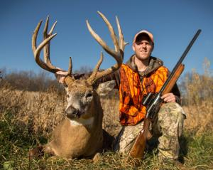 Matt Murphy: I shot this buck on 11/14/15 around 5:00 pm. I am 26 years old and was hunting on private land near Kellogg MN. I took this buck with my Remington 1100 gun. It was probably a 20 yard shot. This is also my FIRST BUCK!!