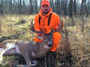 Josh Wieland shot this monster somewhere between Twin Valley and Faith, MN